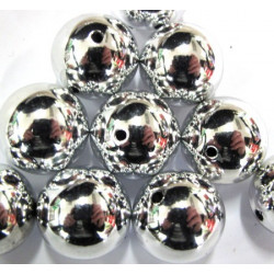 Big silver bauble beads