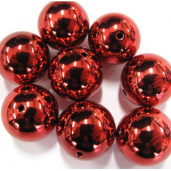 Big red bauble beads