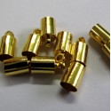 Cord end, gold colour. Pack of 100