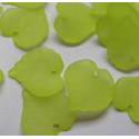 Bright green frosted leaf. Pack of 10g