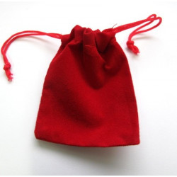 Small red velvety bags, pack of 5