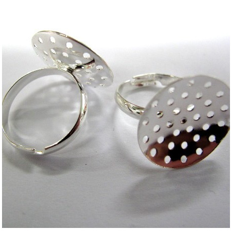Finger rings with sieve front. Pack of 4