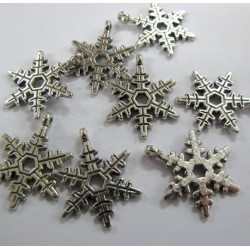 Snowflake charms, pack of 10