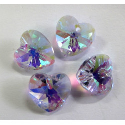 Crystal hearts, pack of 4