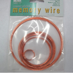 Copper colour memory wire pack