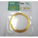 Gold colour bracelet memory wire