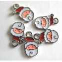 Santa charms, pack of 5