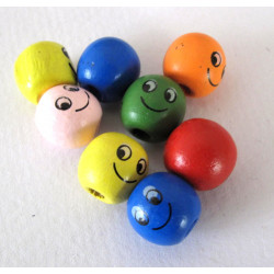 Face beads, pack of 10