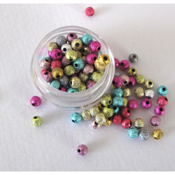 4mm sparkle beads, pack of 1000
