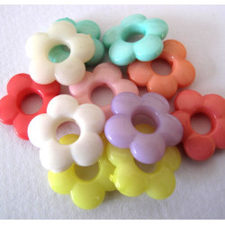 50p flower beads, pack of 20