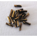 Twist bugle, bronze colour. Approx 8mm. Pack of 10g