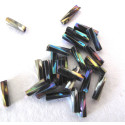 Twist bugle, blue iris. Approx 8mm pack of 10g