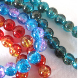Crackle beads, pack of 3 long strands