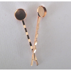 Rose gold colour hair clips