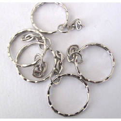 Key ring with chain, pack of 50