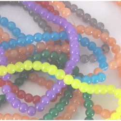 Pack of 5 strands of 4mm glass beads