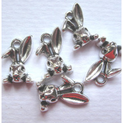 Rabbit charms, pack of 5