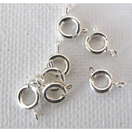 F4058S - Bolt ring, silver colour. Pack of 10
