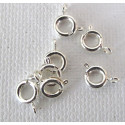 Bolt ring, silver colour. Pack of 10