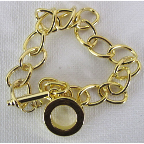 F4003g - Bracelet Base with Toggle Clasp, Gold Coloured.