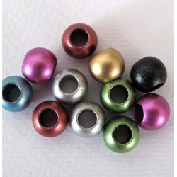 12mm acrylic beads, large hole, pack of 20