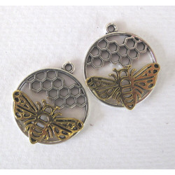 Bee pendant, pack of 2
