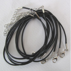 Black cord necklaces, pack of 4