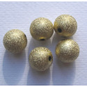 16mm stardust gold colour beads, pack of 12