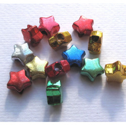 Christmas star beads, pack of 100