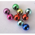 10mm acrylic bauble beads, pack of 50