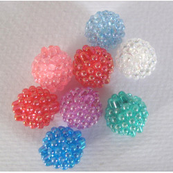 Large berry beads, pack of 20