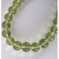 8mm glass beads, pale lime green, 1 strand