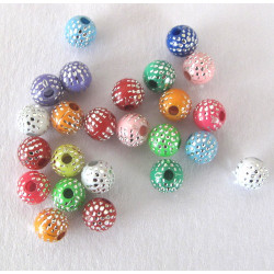 6mm rainbow sparkle beads, pack of 100