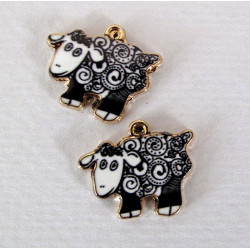 Sheep charms, pack of 2