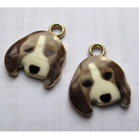 Dog charms, pack of 2