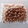 4mm rose gold col beads, 100 pack