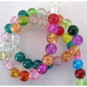 8mm crackle beads, per strand