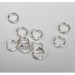 6mm closed jump rings, pack of 50