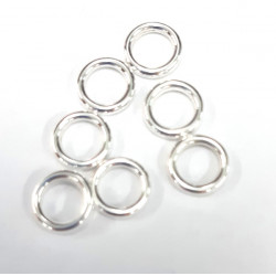 8mm closed jump rings, pack of 10