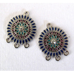 Mandala style pendants, pack of 2