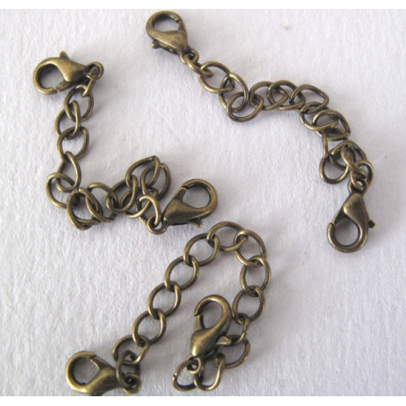 Extender chain with clasps, pack of 3
