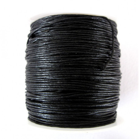 Black cotton 0.5mm cord, per spool