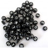 Black alphabet beads, pack of 250
