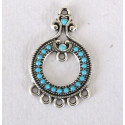 Silver and turquoise colour pendant