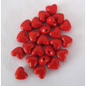 Red acrylic hearts, pack of 50