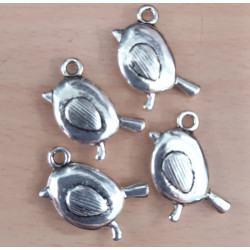 Bird charms. Pack of 4