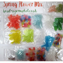 Mixed flowers and beads, bargain pack.