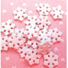 Snowflake beads, pack of 100