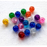 6mm crackle beads, mixed,pack of 30