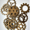 Cog style pendants, pack of 15